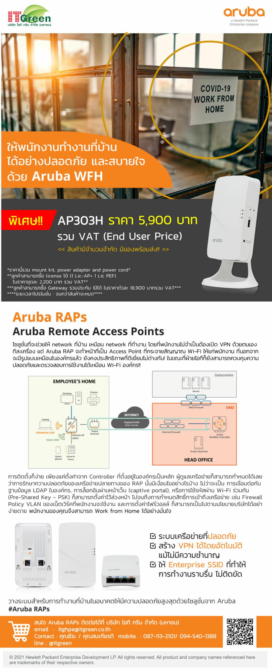 Aruba RAPs Promotion